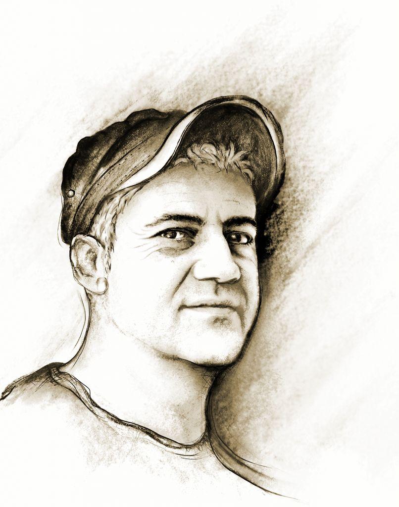 Portrait Dirk Rotzsch, gemalt von Marlen Kasch