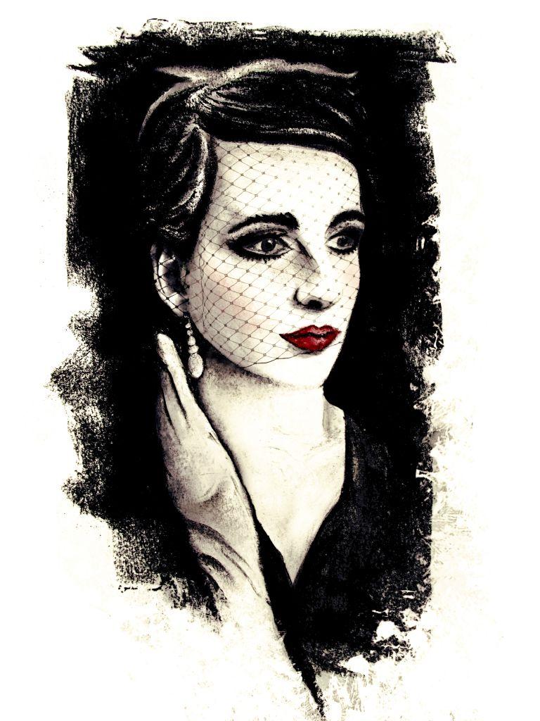 Portrait Jennifer Sonntag, gemalt von Marlen Kasch